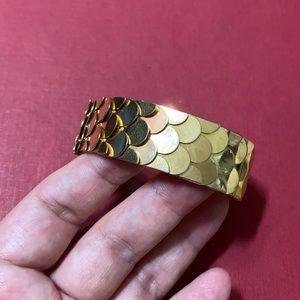 🖤Vintage C1950s fish scale cuff bracelet